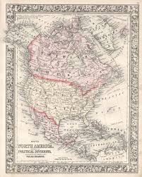 Map Of The United States In 1860 by 1860 Mitchell Map Of North America Showing Russian America