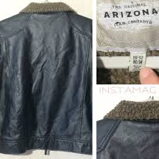 Boys Leather Bomber Jacket Arizona Jean Company Boys Faux Leather Bomber Jacket From