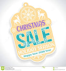 sale season and happy new 2016 stock vector