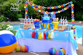 Birthday Decoration Ideas For Boy Pool Party Ideas Guest Feature Celebrations At Home