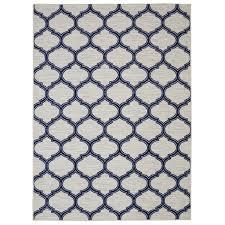 andover mills newell glenn navy cream area rug u0026 reviews wayfair