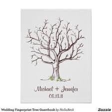 digital file fingerprint tree guestbook by miniinkfingerprints