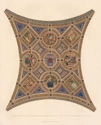 coved ceiling of the stanza della segnatura in the vatican