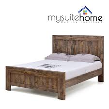Solid Pine Bed Frame Boston Solid Recycled Pine Timber King Size Bed Frame