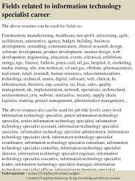 information technology resume sample top 8 information technology specialist resume samples