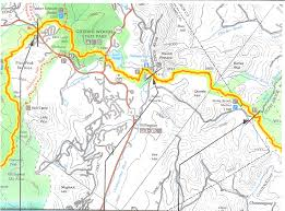 Vt Map Vermont Appalachian Trail From River Road To Route 4