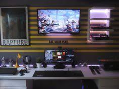 Programmer Desk Setup Fresh New Setup For The Holiday Gameroom Pinterest Desk
