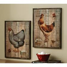 wall ideas kitchen decor ideas for wall simple chickens country