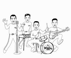 wiggles coloring pages coloring pages pinterest