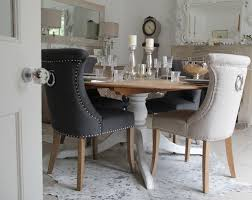 dining room leather chairs vesta studded dining room chair in grey faux leather a for stylish