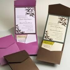 pocket folds kraft wedding invitations diy pocketfold envelopes box vintage