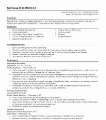Areas Of Expertise Resume Examples Warehouse Resume Samples U2013 Inssite