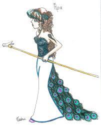 hera with peacock u0027s dress by iris yukimihime on deviantart