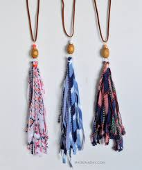 diy fabric tassel necklaces fabric ribbon tassel necklace and