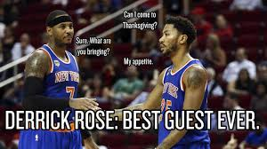 thanksgiving run cincinnati derrick rose invited himself to carmelo anthony u0027s thanksgiving and