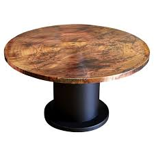 Circle Wood Dining Table by Hooker Furniture Sanctuary 60 In Copper Top Round Pedestal Dining
