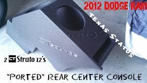 dodge ram center console sub box 2012 dodge ram custom rear center console ported 2 ct sounds