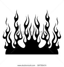 flame tattoo tribal sketch fire tattoo stock vector 655922923