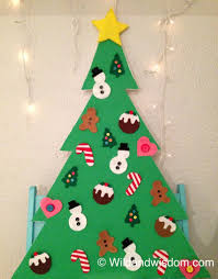 toddler friendly diy felt christmas tree