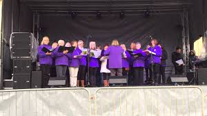 cleckheaton community choir christmas lights switch on 2015 youtube