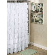 Ruffled Shower Curtains Ruffle Shower Curtain White Shower Curtains Ideas