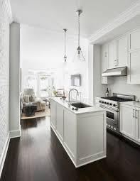 narrow kitchen ideas two way galley kitchen photos apartment kitchen appliances black