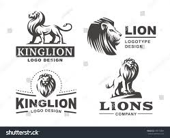 Go Design by Lion Logo Set Vector Illustration Emblem Stock Vector 549170884
