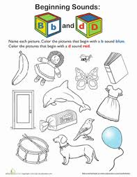 B And D Worksheets Review Beginning Sounds B And D Worksheet Education Com