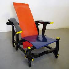 famous chairs right handed designer reinterprets rietveld s most famous chair left
