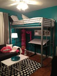 teen room tween room bedroom idea loft bed black and white