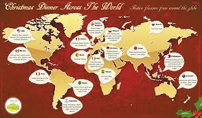 world christmas christmas dinner across the world visual ly