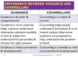 Difference Between Counselling Skills And Techniques Guidance And Counselling