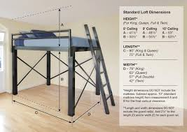 Free Loft Bed Plans Twin Size by Best 25 Queen Loft Beds Ideas On Pinterest Loft Bed King
