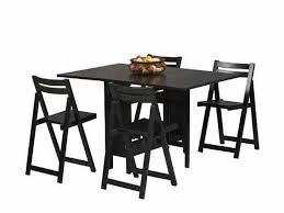 Folding Dining Table With Chair Storage Charming Cheap Portable Tables Black Dining Table With Chairs