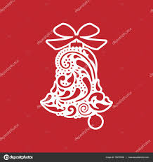 Christmas Cutout Decorations Bell With Geometric Pattern Vector Design Laser Cutting Template