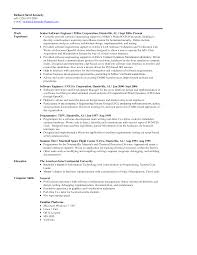 Objective Resume Examples Entry Level Resume Objective Examples Software Engineer