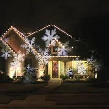 christmas 4w 4led moving white snowflake film christmas xmas