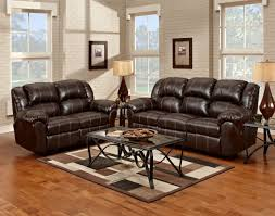 Overstuffed Sofa And Loveseat by Bonded Leather Reclining Sofa Black Color Overstuffed Arms Seats