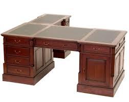 bureau d angle en bois massif bureau d angle style anglais acajou sous noir cambridge