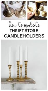 how to update thrift store candleholders thrift store crafts
