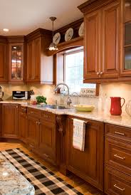 Granite With Cherry Cabinets In Kitchens 138 Best Kitchens Images On Pinterest Kitchen Kitchen Ideas And