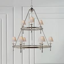 Ring Chandelier E F Chapman Classic Two Tier Ring Chandelier Gracious Home
