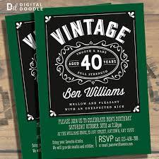 birthday invitation card 40th birthday invitations for him