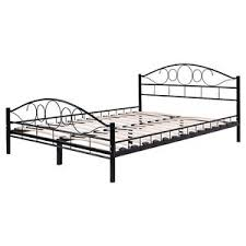 Ebay Bed Frames Size Wood Slats Steel Bed Frame Platform Headboard Footboard
