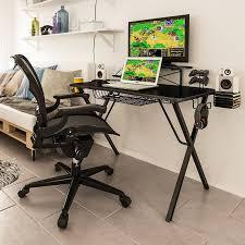 atlantic furniture gaming desk black carbon fiber atlantic gaming computer desk reviews wayfair