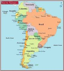 south america map atlas map of south america and the andes