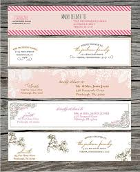 designs clear return address labels wedding with clear mailing