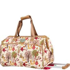 lilly bloom bloom 20 wheeled duffel ebags