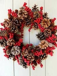 pine cone wreath decorations for diy pine cone