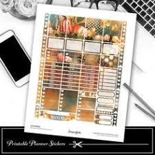 november monthly kit printable fall autumn stickers thanksgiving